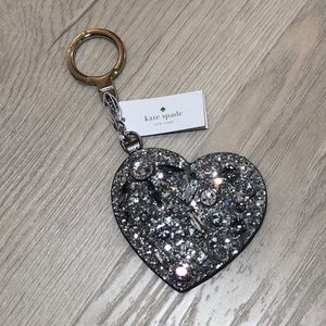 Kate Spade Silver Jeweled Glitter Key chain
